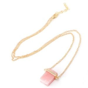 5/$20 • Pink Stone Pendant Necklace